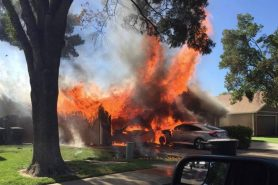 Structure fires on scorching day in Modesto displace residents, send firefighter to hospital
